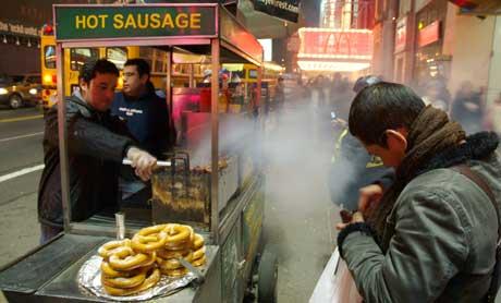En nybakt kringle på gaten i New York kan anbefales! (Foto: Ronald Toppe)