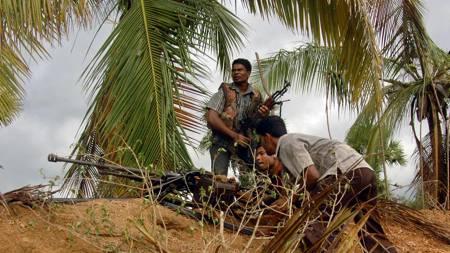 Tamiltigrene presses stadig inn på et mindre område, og har nå bedt om fredsforhandlinger. (Foto: LAKRUWAN WANNIARACHCHI/AFP)