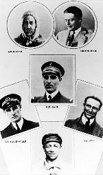 Mannskapet som var om bord i Latham da det forsvant utenfor   Bjørnøya.