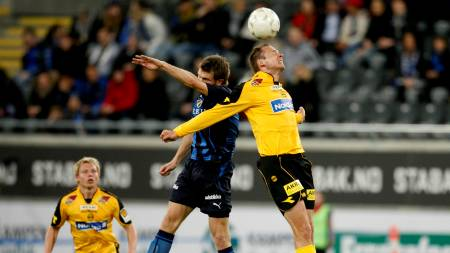 Arild Sundgot (t.h.) i duell med Fredrik Risp  (Foto: Aas, Erlend/SCANPIX)