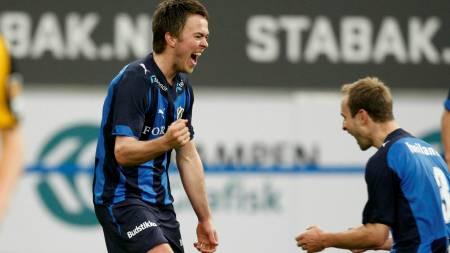 Stabæks Palmi Rafn Palmason jubler sammen med Jon Inge Høiland  (Foto: Aas, Erlend/SCANPIX)