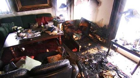 Her i sin egen leilighet omkom Kari Helgesen (79) da det begynte å brenne. (Foto: TV 2)
