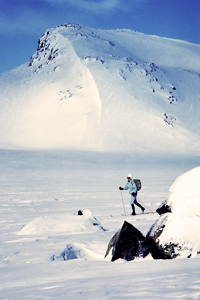 hallingskarvet landskap ski snø
