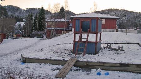 Søskenparet som er smittet av E.coli gikk begge i denne barnehagen i Hommelvik i Malvik kommune. (Foto: Tor Aage Hansen )