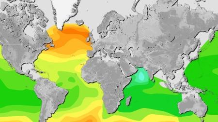 Surt hav: Desto nærmere polene man kommer, jo surere blir vannet.