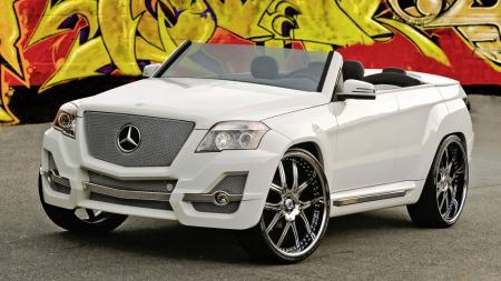 På SEMA 2008 ble flere GLK stylet. Dette makkverket heter The Urban Whip og er laget av Boulevard Customs.