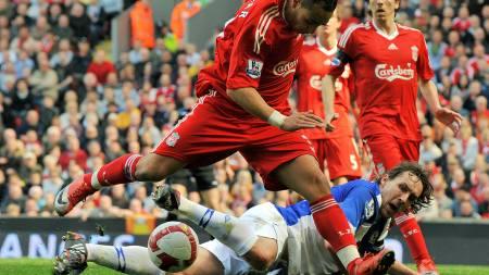 OVERKJØRT: Blackburn fikk stryk borte mot Liverpool og tapte   0-4. (Foto: CARL DE SOUZA/AFP)