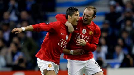 Cristiano Ronaldo, Wayne Rooney (Foto: Armando Franca/AP)