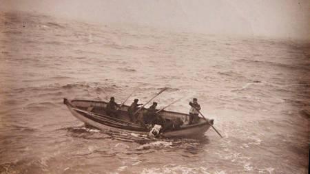 Overlevende passasjerer fra Titanicforliset.  (Foto: PAUL TREACY/EPA)