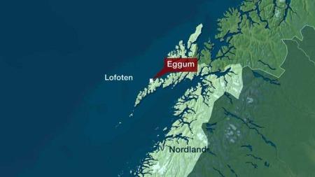 Eggum i Lofoten. Nordland fylke.
