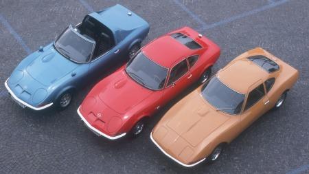 Alle GT-versjonene fra Opel (Foto: Pressebilde)