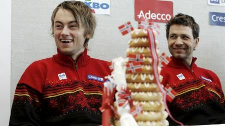 TJENER RÅTT: Petter Northug og Ole Einar   Bjørndalen er sikret solid økonomisk gevinst om de tar gull i Vancouver.   (Foto: Poppe, Cornelius/SCANPIX)