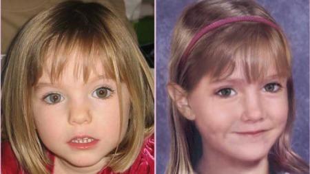 SEKS ÅR: Slik kan Madeleine se ut nå, to år etter forsvinningen. Bildet til høyre er manipulert og viser hvordan Maddie kan se ut som seksåring. Bildet til venstre viser Maddie tre år gammel. (Foto: Scanpix)