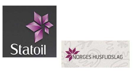 statoils nye logo ligner husflidlagets logo (Foto: Statoil/Norges Husflidlag)