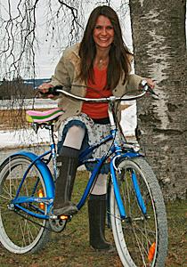 Katrine-sykler Moholt jakten 2009