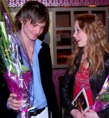 Tarjei Westby (17) og Marita Traaen (16) vant auditionkonkurransen   til «Hotel Cæsar». (Foto: Tore Waskaas)