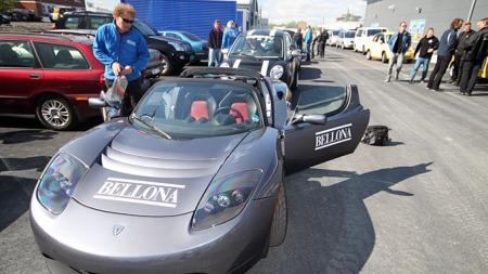 Bellona har allerede en Tesla Roadster og har gitt denne bilmodellen mye PR.  (Foto: Ole-Martin Lundefaret)