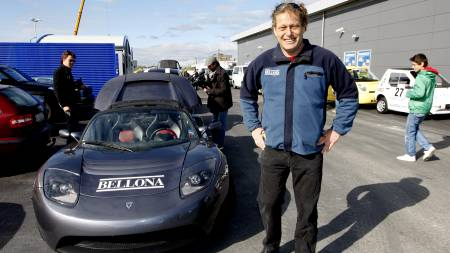 Frederic Hauge og Bellona deltok da Viking Rally 2009 startet   i Oslo mandag. (Foto: Aas, Erlend/SCANPIX)
