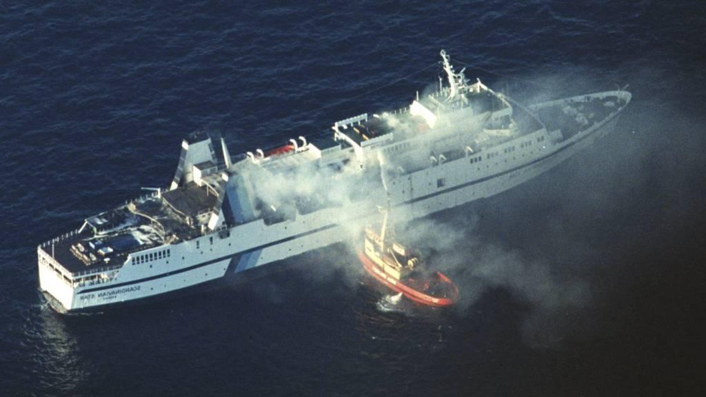 Brann om bord i passasjerferjen Scandinavian Star kostet 159  mennesker livet. (Foto: Løchen, Per/SCANPIX)