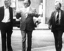Arne Treholt møtte KGB-toppene Gennadij Titov og Aleksandr Lopatin i Wien i 1983. (Foto: Politiet)