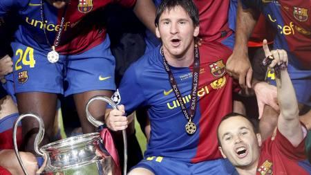 Lionel Messi og Andres Iniesta  (Foto: ALBERT GEA/REUTERS / SCANPIX)