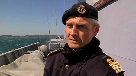 Skipssjef Ole Morten Sandquist på fregatten «Fridtjof Nansen». (Foto: TV 2)
