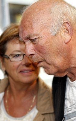 Helga Hjetland, Unio-kommune og Morten Øye fra LO-Stat under forhandlingene om ny pensjonsordning. (Foto: Knut Falch)