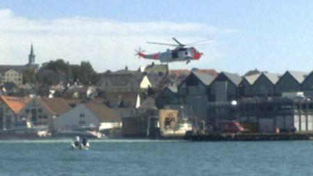 ULYKKE: Båtulykke i forbindelse med PokerRun i Stavanger lørdag.   (Foto: Tipser-MMS til 0225/)