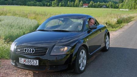Benny tester brukt Audi TT (Foto: Jorunn G. Telnes)