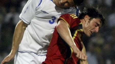 HODESKADE: fabregas pådro seg hodeskade  (Foto: SCANPIX/AP)