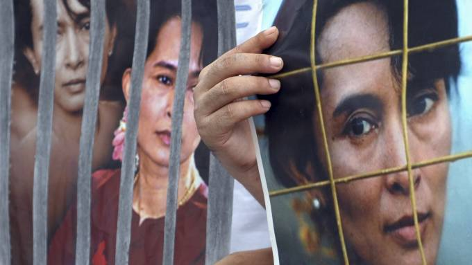 Aung San Suu Kyi (Foto: PORNCHAI KITTIWONGSAKUL/AFP)