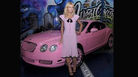 Paris Hiltons rosa Bentley Continental. (Foto: Pressebilde)