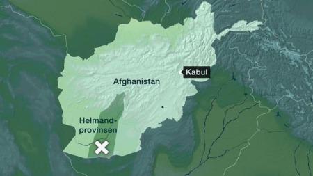 Kassene med flygebladene ble sluppet over Helmand-provinsen   av det britiske luftforsvaret.