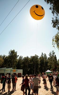 smiley hove festivalen (Foto:   Tomas Haugland Solli)