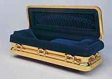 Michael Jackson begraves i en gullkledt kiste av denne typen.