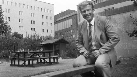Fremrkrittspartiet kom i vippeposisjon etter Stortingsvalget i 1985.  (Foto: Sigurdsøn, Bjørn/SCANPIX)