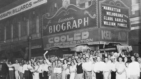 DRAPSSTEDET: Biograph Theater i N. Lincoln Avenue i Chicago   var stedet hvor John Dillinger ble skutt og drept av FBI og politi i   1934. (Foto: AP/AP)