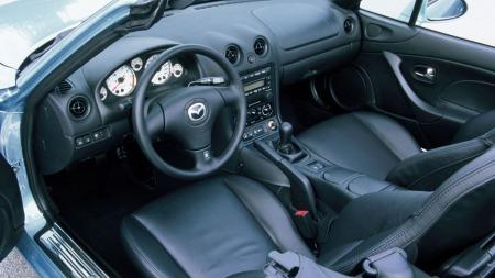 Interiør i MX-5. Dette er fra en 2000 modell.