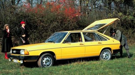 Aller første Audi 100 Avant kom i 1977 og var ikke en stasjonsvogn,   men en femdørs kombi-coupe