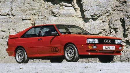 Audi Quattro. Bilen som skremte vannet av de fleste konkurrentene   i rallyløypa.