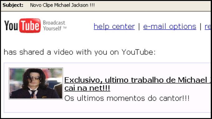 michael jackson spam orm (Foto: Faksimile)