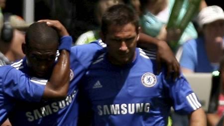 Daniel Sturridge og Frank Lampard  (Foto: OTTO GREULE JR/AFP)