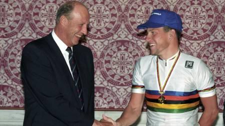 Kong Harald og Lance Armstrong, 1993  (Foto: Åserud, Lise/SCANPIX)