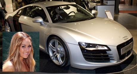 STORSLAGEN: Lauren Conrad er å se i Hollywoods finere strøk   med en Audi R8.