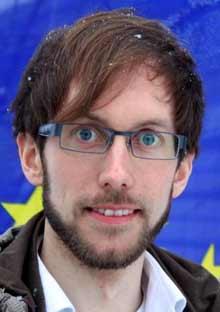 Erlend Sand, leder av Europeisk Ungdom.
