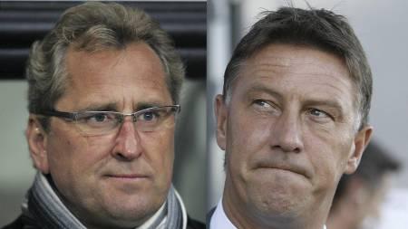 Erik Hamrén og Kjell Jonevret (Foto: Teigen,   Trond Reidar/SCANPIX)