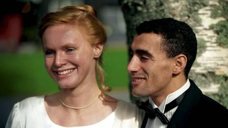 I STRID: Marokkaneren Khalid Skah giftet seg med  Anne Cecilie Hopstock på Lysebu i 1992. Nå er de skilt og ligger i strid om hvem som skal ha foreldretten til de to barna.  (Foto: Nordahl, Aleksander/SCANPIX)