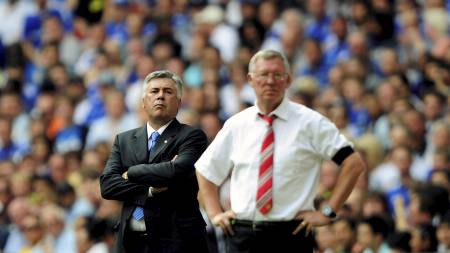 Carlo Ancelotti og Alex Ferguson  (Foto: DYLAN MARTINEZ/REUTERS)