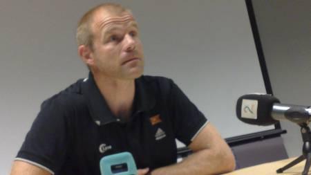 STRAFFER NIANG: Vikings sportsdirektør Egil Østenstad opplyser at Niang er utestengt i 14 dager og må betale en bot på 15 000 kroner.  (Foto: SteinarFigve/TV 2)