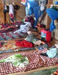 25 kvinner og barn deler dette rommet.  (Foto: Kjersti Johannessen/TV 2)